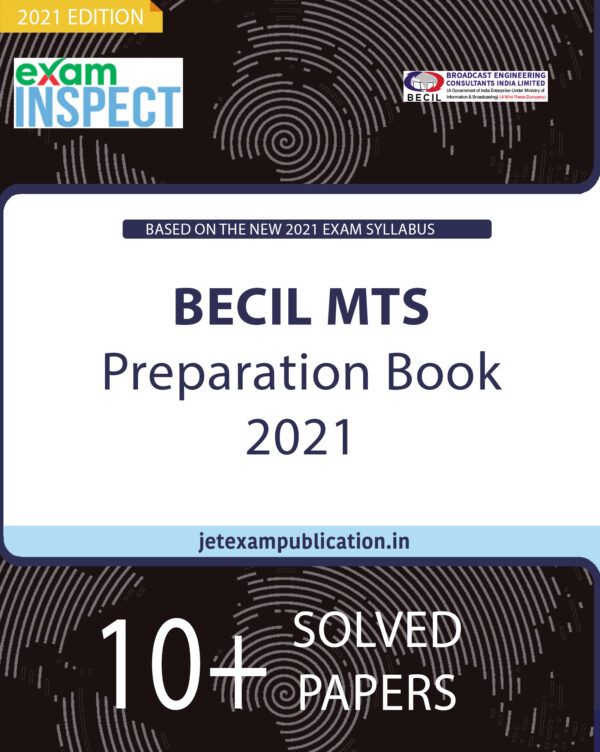 """""""BECIL MTS Preparation Book 2021 Hardcover with Online mock tests."""""""
