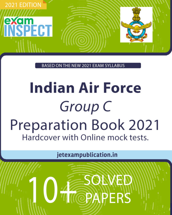 """""""Indian Air Force Group C Preparation Book 2021 Hardcover with Online mock tests."""""""
