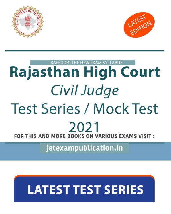 """Rajasthan High Court Civil Judge Test Series 2021"""